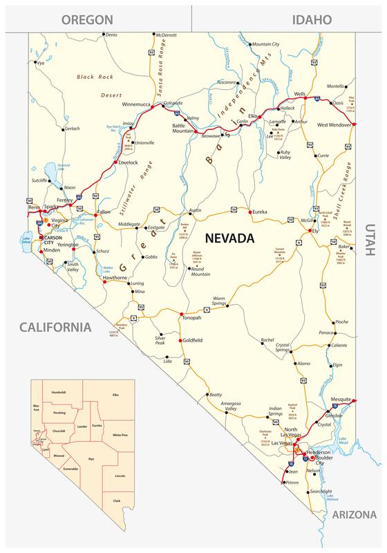 North Las Vegas NV City Map Porta Potty Rentals